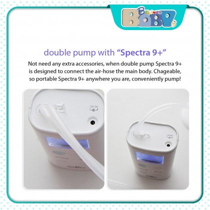 Spectra 9+ Double Breast Pump Package (Free Gift)
