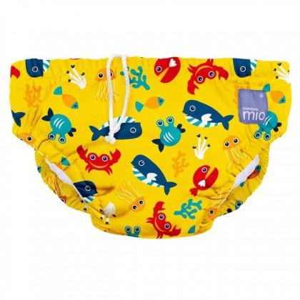 Bambino Mio Reusable Swim Nappy - Deep Sea Yellow