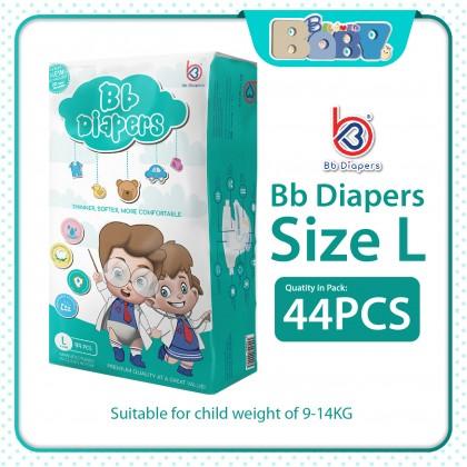Bb Diapers Premium Tape (Size S, M , L & XL) - Single Bag