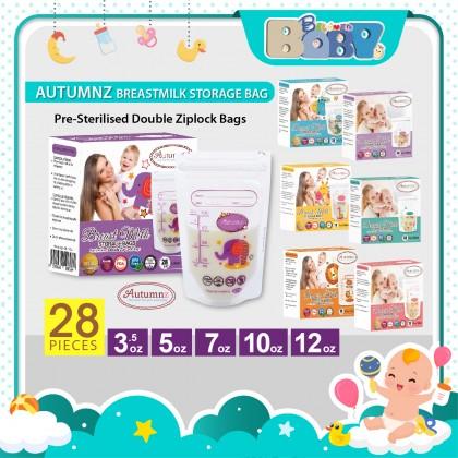 Autumnz Double ZipLock Breastmilk Storage Bag (28 bags) 3.5/ 5/ 7/ 10/ 12oz
