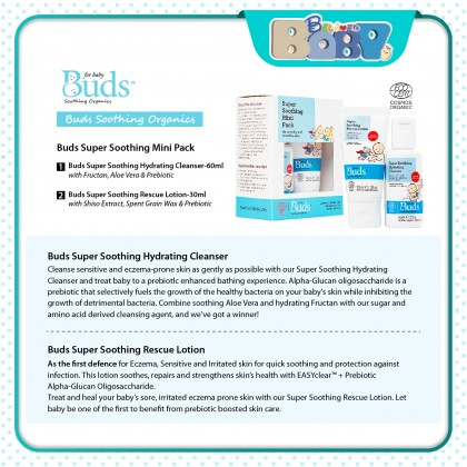 Buds Super Soothing Mini Pack (Eczema, Sensitive & Irritated Skin Mini Starter Kit)