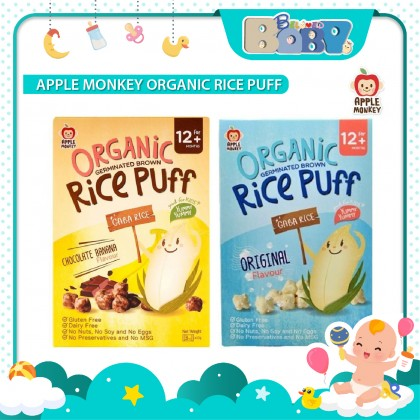 Apple Monkey Organic Rice Puff