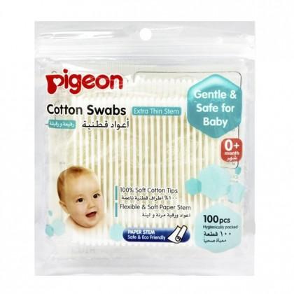 Pigeon Soft Cotton Swabs Extra Thin Stem (100/200pcs)
