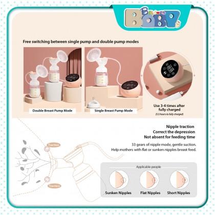Boboduck Double Electric Breast Pump (PPSU Bottle)