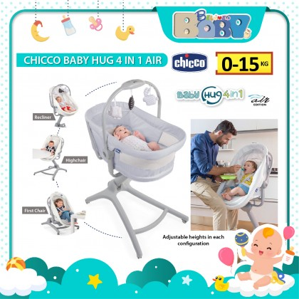 Chicco Baby Hug 4 in 1 Air (Crib, Recliner, Highchair, First Chair)