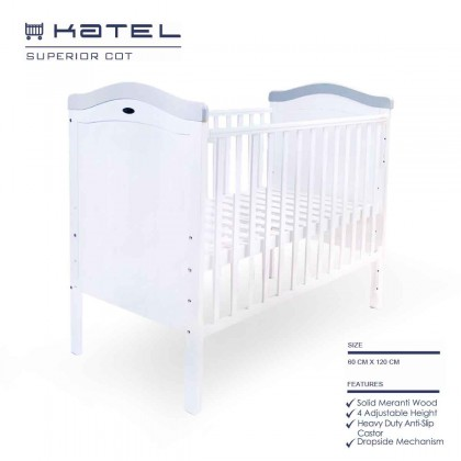 Katel Baby Cot - Superior (Convert to playpen, cribs, co-sleeper)