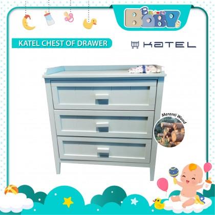 KATEL Chest of Drawer - Pebble Green