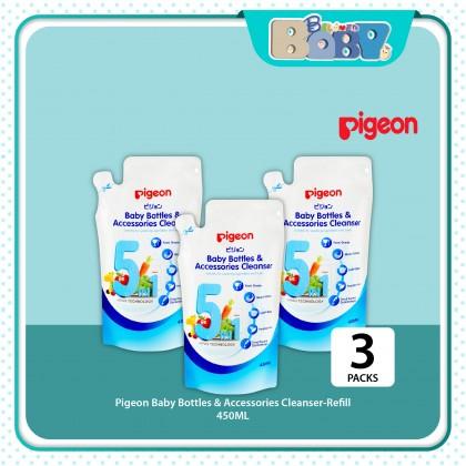 Pigeon Baby Bottle & Accessories Cleanser Bottle Liquid Cleanser Refill (450ml x3packs)